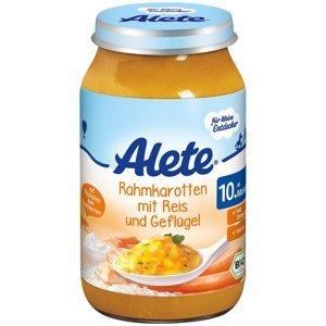 Alete BIO Příkrm mrkev + smetana + rýže + krůta 10m+ 220 g