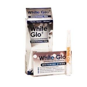 White Glo Diamond Series bělicí pero 2,5 ml + bělicí pásky 7 ks