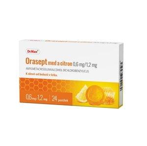 Dr.Max Orasept med a citron 0,6 mg/1,2 mg 24 pastilek