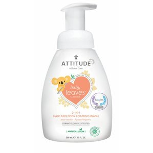 ATTITUDE Baby Leaves Pěnivé mýdlo a šampon 2v1 hruška 295 ml