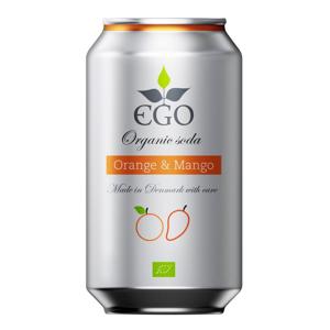 EGO BioLimonáda pomeranč/mango plechovka 330 ml