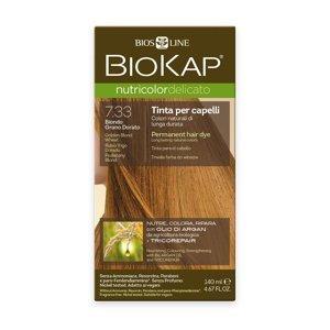 BIOKAP Nutricolor Delicato 7.33 Blond Zlatá pšenice barva na vlasy 140 ml