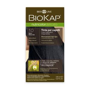 BIOKAP Nutricolor Delicato 1.0 Černá přírodní barva na vlasy 140 ml