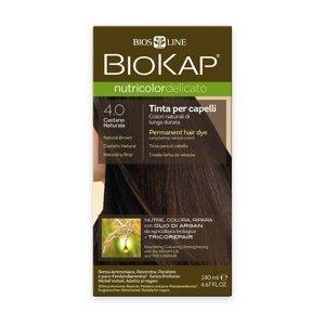 BIOKAP Nutricolor Delicato 4.0 Hnědá přirozená barva na vlasy 140 ml