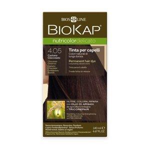 BIOKAP Nutricolor Delicato 4.05 Kaštanovo čokoládová barva na vlasy 140 ml