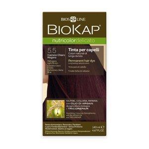 BIOKAP Nutricolor Delicato 5.50 Hnědá - světlý mahagon barva na vlasy 140 ml