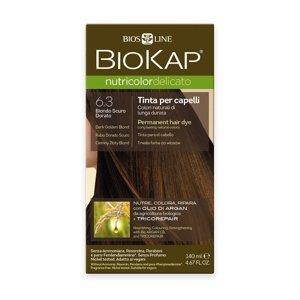 BIOKAP Nutricolor Delicato 6.3 Blond zlatá tmavá barva na vlasy 140 ml
