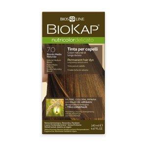 BIOKAP Nutricolor Delicato 7.0 Blond přírodní střední barva na vlasy 140 ml