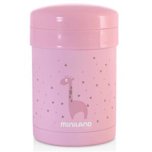 Miniland Termoska Thermic + kelímky na jídlo Pink