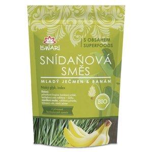 Iswari BIO Snídaňová směs mladý ječmen-banán 300 g
