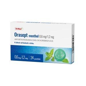 Dr.Max Orasept Menthol 0,6 mg/1,2 mg 24 pastilek