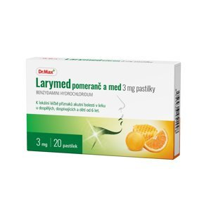 Dr.Max Larymed pomeranč a med 3 mg 20 pastilek