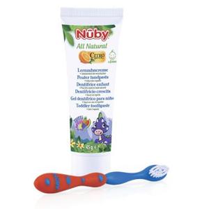 NUBY Zubní pasta s citroganixem 45 g + zubní kartáček 24m+