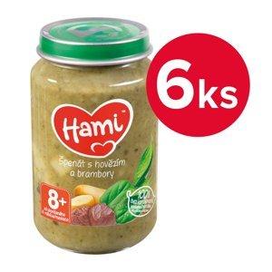 Hami Špenát s hovězím a brambory 8m+ 6x200 g