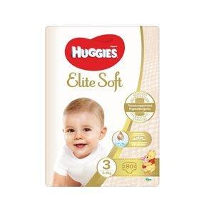 Huggies Elite Soft 3 5-9 kg dětské pleny 80 ks