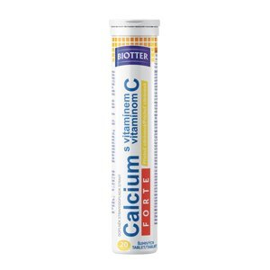Biotter Calcium Forte s vitaminem C citrón 20 šumivých tablet