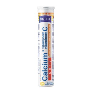 Biotter Calcium Forte s vitaminem C pomeranč 20 šumivých tablet
