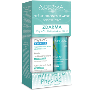 A-derma Phys-AC Perfect 40 ml + Čisticí pěnivý gel 100 ml