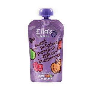 Ellas Kitchen BIO Zeleninové pyré sladké brambory, dýně, jablko a borůvky kapsička 120 g
