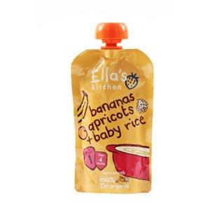 Ellas Kitchen BIO Dětská rýže banán a meruňka kapsička 120 g