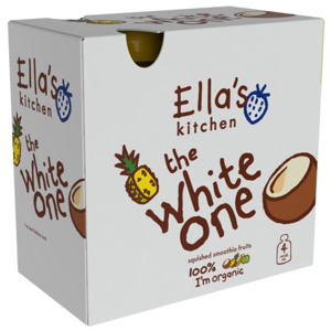 Ellas Kitchen BIO Ovocné pyré White One Kokos kapsička 4x90 g