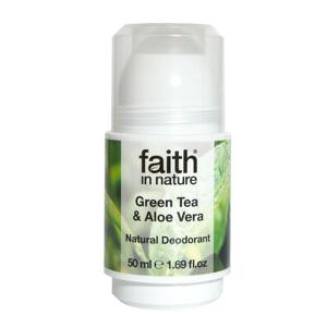 Faith in Nature Kuličkový deodorant pro ženy Green Tea 50 ml