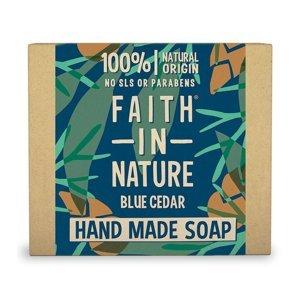Faith in Nature Tuhé mýdlo Modrý cedr 100 g