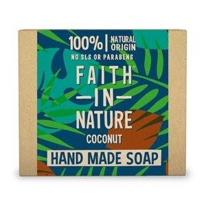 Faith in Nature Tuhé mýdlo Kokos 100 g