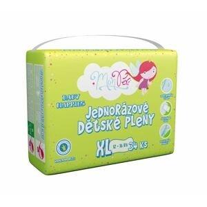 MonPeri Klasik XL 12-16 kg dětské plenky 34 ks