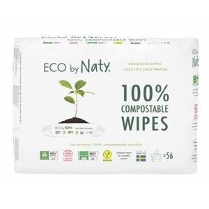 ECO by Naty Vlhčené ubrousky bez vůně pro citlivou pokožku 3x56 ks