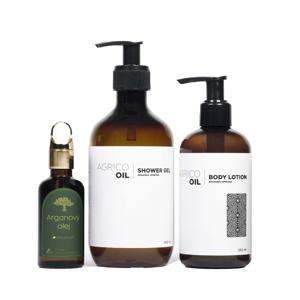 Agrico Oil Sada kosmetiky pro hebkou pokožku 3 ks