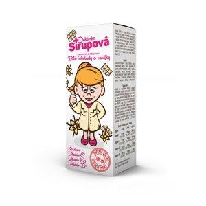 Doktorka Sirupová kalciová Bílá čokoláda a vanilka 100 ml