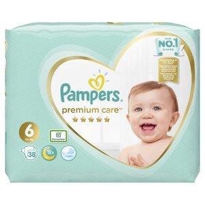 Pampers Premium Care vel. 6 13+ kg dětské pleny 38 ks
