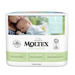 Moltex Pure & Nature Newborn 2-4 kg dětské pleny 22 ks