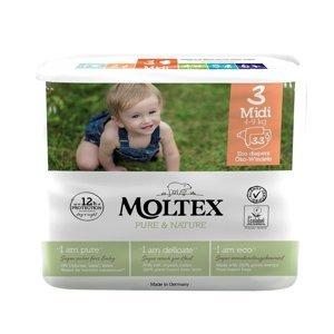 Moltex Pure & Nature Midi 4-9 kg dětské pleny 33 ks
