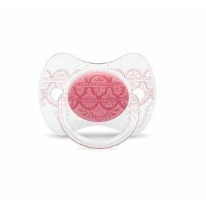 Suavinex Premium Couture Šidítko silikon 0-4m 1 ks růžové