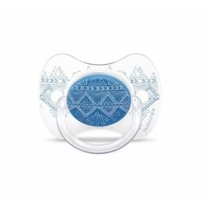 Suavinex Premium Couture Šidítko silikon 4-18m 1 ks modré