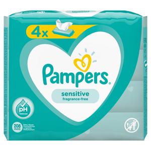Pampers Sensitive vlhčené ubrousky 4x52 ks