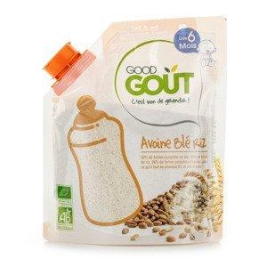 Good Gout BIO Dětská ovesná, pšeničná a rýžová instantní kaše v prášku 6m+ 200 g