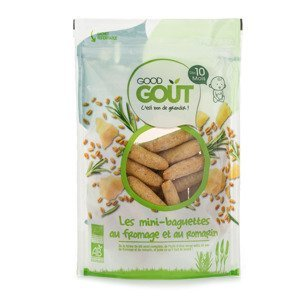 Good Gout BIO Mini bagetky s rozmarýnem a sýrem 10m+ 70 g