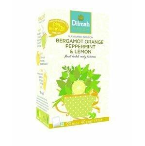 Dilmah Bergamot Orange Peppermint & Lemon porcovaný čaj 20x2 g
