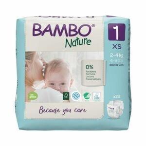 Bambo Nature 1 S 2-4 kg dětské pleny 22 ks