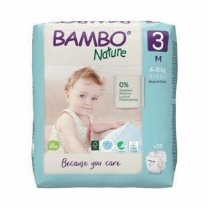 Bambo Nature 3 M 4-8 kg dětské pleny 28 ks