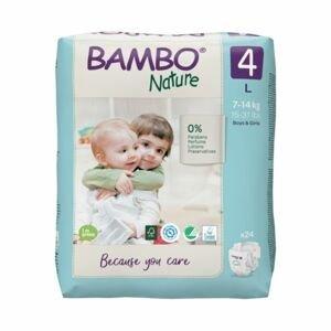 Bambo Nature 4 L 7-14 kg dětské pleny 24 ks