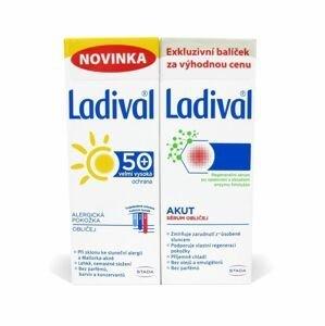 Ladival Exkluzivní balíček péče o obličej alergická pokožka OF50+ + regenerační sérum 2x50 ml