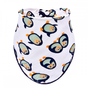 T-tomi BIO Bambusový slintáček 1 ks tučňáci