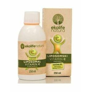 Ekolife Natura Liposomal Vitamin C STRONG 750 mg ananas 250 ml