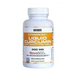 WEIDER Liquid Curcumin + vitamin D3 90 kapslí