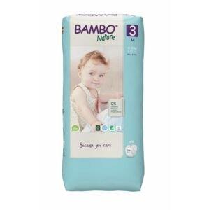 Bambo Nature 3 M 4-8 kg dětské pleny 52 ks