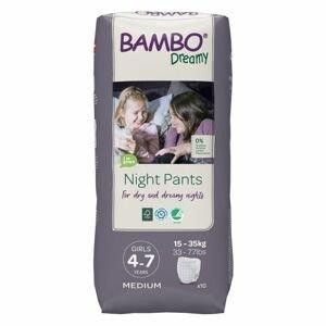 Bambo Dreamy Night Pants Girl 4-7 let 15-35 kg noční plenkové kalhotky 10 ks